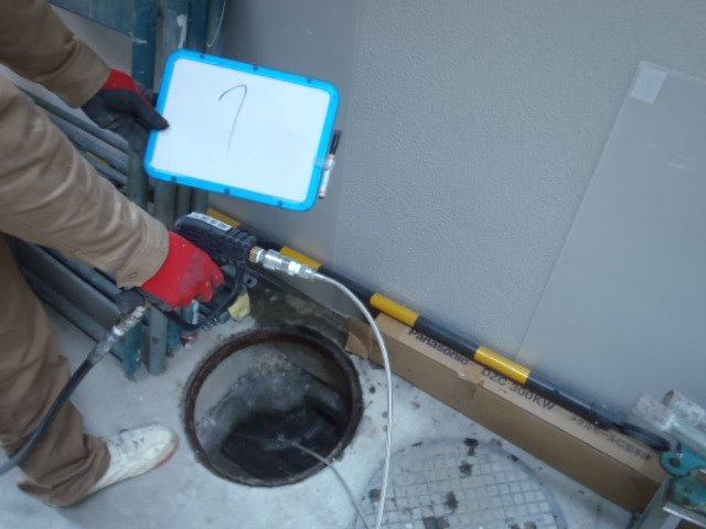 高圧洗浄汚水桝